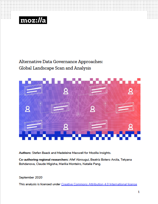 Report: Alternative Data Governance Approaches: Global Landscape Scan and Analysis