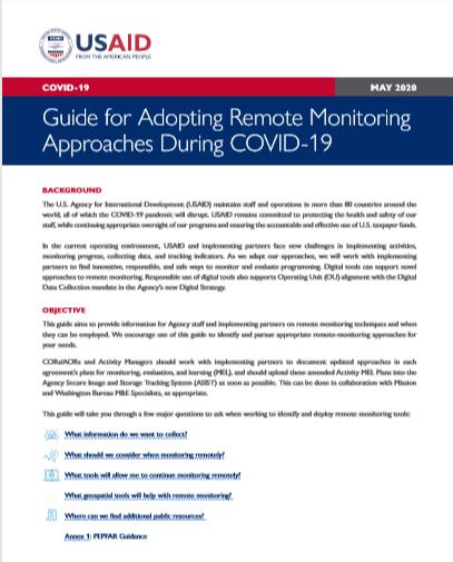 Руководство по принятию подходов удаленного мониторинга во время COVID-19