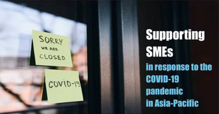 "Join the webinar on ""Supporting SMEs in response to COVID-19 pandemic in Asia-Pacific"""