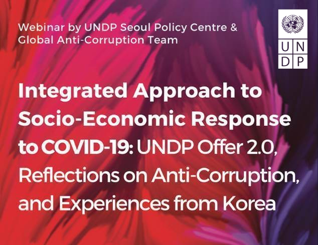 Join the webinar organized by UNDP Seoul Policy Centre and Global Anti-Corruption Team