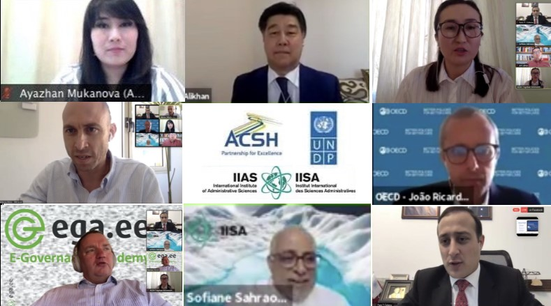 Digital solutions against the pandemic were discussed by experts from 20 countries and the OECD at the session of the Astana Civil Service Hub