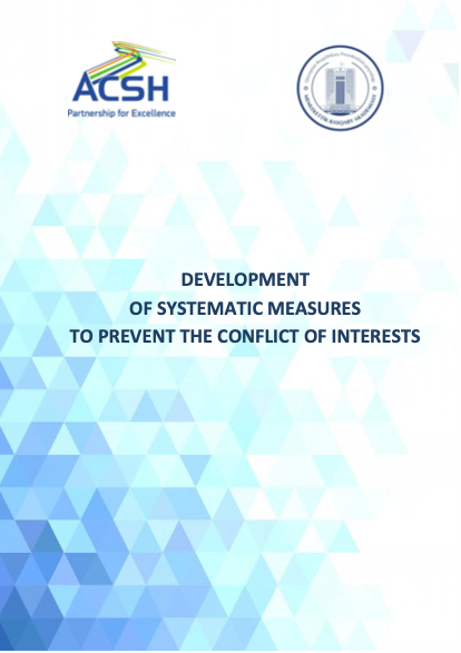 Development of systematic measures to prevent conflicts of interest