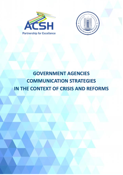 Government agencies communication strategies in the context of crisis and reforms